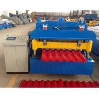 Buy cheap Steel Step Tile Making Machinery / Glazed Tile Cold Rolled Forming Machine product