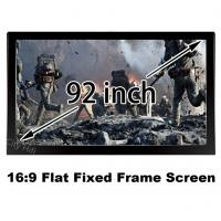 Buy cheap Bright 3D Projector Screen 92inch Matt White DIY Fixed Frame 16:9 Projection Screens 1080p from wholesalers