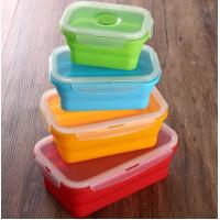Buy cheap Set of 4 Collapsible Silicone Food Storage Container FDA silicone lunch box for kids from wholesalers