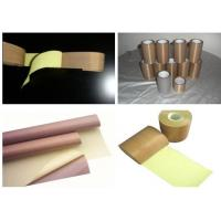 Buy cheap PTFE coated fabric tape,0.13*19*10000 teflon fabric tape,PTFE FABRIC TAPE WITH LINNER from wholesalers