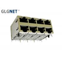 Buy cheap Magnetic RJ45 Connector 2 x 4 Stacked RJ45 Modular Jack 1000 Base T with POE Function from wholesalers