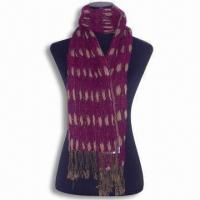 Wholesale Scarves/Scarf, Made of 30% Silk and 70% Pashmina, Customized Specifications are Accepted from china suppliers