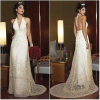 Buy cheap Halter Deep V-Neck Super Sexy Charming Sheath Style Wedding Dress from wholesalers