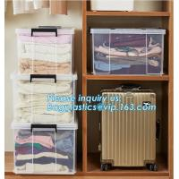 Buy cheap 10L Clear Household Reusable Stack Plastic Storage Boxes, Transparent Household Handled PP Storage Box Plastic Boxes pac from wholesalers