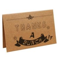 Buy cheap Kraft Paper Card Blank Sleep Aid Items Scent Brown Wedding Favour Gift Greeting from wholesalers