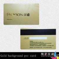 Buy cheap Customized Clear PVC Rounded Corner Business Cards Gold Hot Stamping from wholesalers