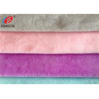 Buy cheap Warp Knitted 100% Polyester Crystal Velboa Minky Plush Fabric For Toys from wholesalers