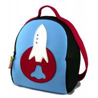Wholesale Preschool Lunch Personalized Kids Backpacks for Toddlers Boy, Embroider Rocket from china suppliers