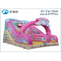 Wholesale kids inflatable indoor outdoor playground slide KT cat inflatable slide from china suppliers