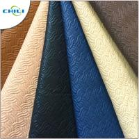 Buy cheap Strong Teal Faux Leather Material Rolls Padded Comfortable Touching Feeling from wholesalers