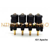Buy cheap IG1 Apache OMB Type LPG / CNG Rail Injectors HD 4 Cylinders 3 Ohms DC12V from wholesalers