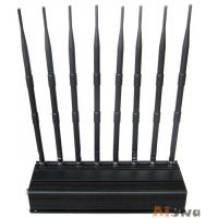 Buy cheap 8 Antennas 16W UHF VHF Jammer , 4G Lte Wireless Internet Wimax Jammer 315Mhz/433Mhz from wholesalers