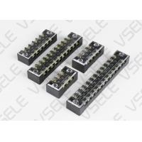 Buy cheap Barrier Type Terminal Block With Cover Screws / Dual Row Terminal Block from wholesalers