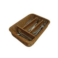 Buy cheap Pretty Washable Four - Dividers Basket , Rattan Flatware Caddy from wholesalers