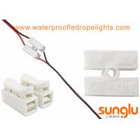 Buy cheap CH2 Spring Wire Clamp Connector , White LED Light Strip 2 Pin Connector from wholesalers