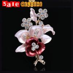 Buy cheap Enamel Flower Brooch Rhinetone Golden Crystal Diamond Brooch Bouquet Corsage Pin Scarf from wholesalers