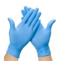 Wholesale Medium Size Blue Full Fingered Disposable Exam Gloves from china suppliers