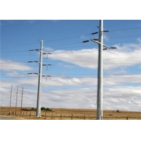 Buy cheap 220KV Overhead Transmission Metal Steel Utility Poles 16 meters without joint from wholesalers