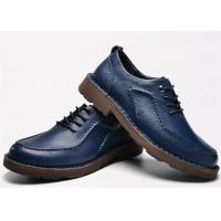 Wholesale Latest Hand Sewing Blue Comfortable Casual Shoes Moc Toe Four Seasons Available from china suppliers