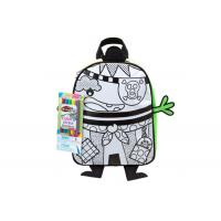 Buy cheap Kids Fabric DIY Painting Pirate Backpack , Washable DIY Drawing School Bag from wholesalers