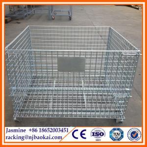 Galvanized foldable industrial steel wire stillage Manufactures