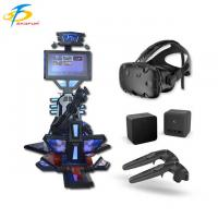 Wholesale Black 9D VR Gatling Gun Simulator , HTC VIVE Shooting Game Machine from china suppliers