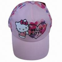 Buy cheap Hello kitty kids caps, 5-panel Structured Imprinting Children's carton Cap,caps for kids,baby sports hats(YC-Kids002) from wholesalers