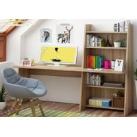 Buy cheap Simple modern computer desktop desk, home bedroom table, multi-function bookcase, learning desk book shelf combination. from wholesalers
