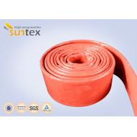 Buy cheap Fire Retardant Silicone Coated Fiberglass Sleeving 100% E - Glass Yarn from wholesalers