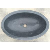Wholesale Natural G654 Dark Grey Oval Stone Wash Basin from china suppliers