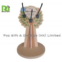Buy cheap Tree Shape Cardboard Counter Displays Rack With Peg Hook , CMYK Color from wholesalers