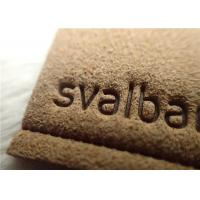 Buy cheap Micro Fibre Custom Clothing Patches With Hot Melt Glue / Sewing Line Suede Patches from wholesalers