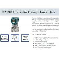 Buy cheap Industrial EJA110E Differential Pressure Transmitter For Level Measurement from wholesalers