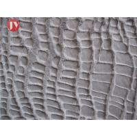 Buy cheap 100% Polyester Plush Faux Fur Fabric Warp Knitting Glue Printed Crocodile from wholesalers