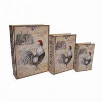 Buy cheap Set of 3 Canvas and MDF Gift Book Boxes, Different Models Available from wholesalers