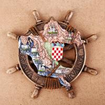 Buy cheap Resin coratia fridge magnet Cute Nautical Anchor souvenir Coratia Souvenir Gift Home Decoration from wholesalers