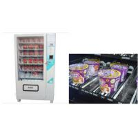 LCD screen Cup Noodle Vending Machine , Automatic Selling Vending Kiosk Manufactures