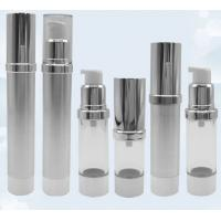 Buy cheap Gold Frosted Airless Pump Bottle / Airless Dispenser Bottles 15ml 100ml from wholesalers