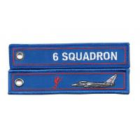 6 Squadron RAF Lossiemouth Remove Before Flight Typhoon Twill Keyring Embroidered Manufactures