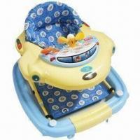 Buy cheap Baby Walker with Soft Fabric Cushion and IC Toy Tray from wholesalers