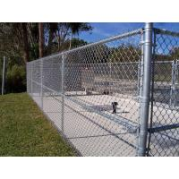 Buy cheap 2.4M height x 10M Length Gal Black Chain Link Fence Cost/cyclone fence/hurricane fence from wholesalers