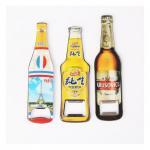 Buy cheap Custom Cheap Promotion Gift Beer Brand Bottle Shape Beer Bottle Opener Fridge Magnet, Print Logo with Epoxy from wholesalers