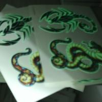 Buy cheap UV Blacklight Glow In The Dark Face Tattoos Temporary Non Permanent from wholesalers