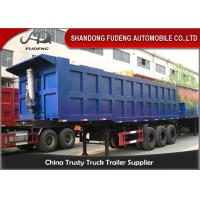 Buy cheap Heavy Duty Utility Semi Dump Trailers 3 X 14 Tons Axle HYVA Fuel Tank from wholesalers