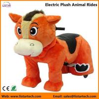 Wholesale Electric Rechargeable Ride-on Plush Animal Rides for kids and adults entertainment-Horse from china suppliers