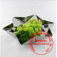 Buy cheap Stainless steel fruit plate,fruit tray,fruit basket,fruit dish,fruit pots,fruit bowl,compote,calathus,metal fruit plate from wholesalers