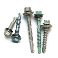 Buy cheap HDG Electroplating Hex Head Stainless Steel 410 Self Drilling Screws Zinc Plated Sandblast Electric from wholesalers