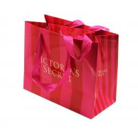 Buy cheap Boutique Custom Printed Retail Bags , Rope Handle Paper Bags Surface Disposal Convenient from wholesalers