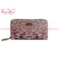 Buy cheap Colorful Floral Big Ladies Card Wallet Special Lovely Digital Pattern with Zipper from wholesalers