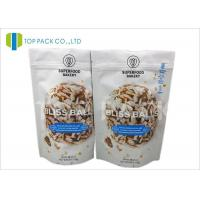 Barrier Zipper Stand Up Pouch PET / AL / PE Cookies Packaging Customzied size Manufactures